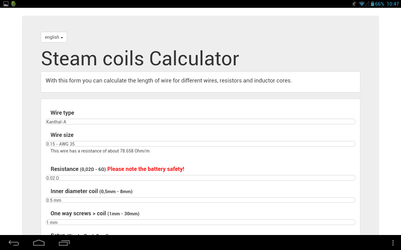 Steam coils Calculator – Android Apps on Google Play