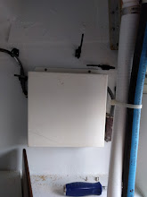Photo: cover installed on back side of galley sub panel