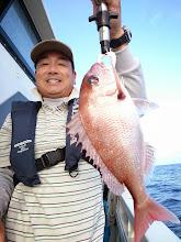 Photo: よっしゃー!本命の真鯛キャッチ!