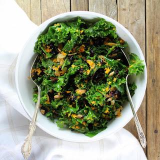 Kale Orange Cranberry Salad.