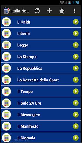android Quotidiani Italiani Screenshot 1