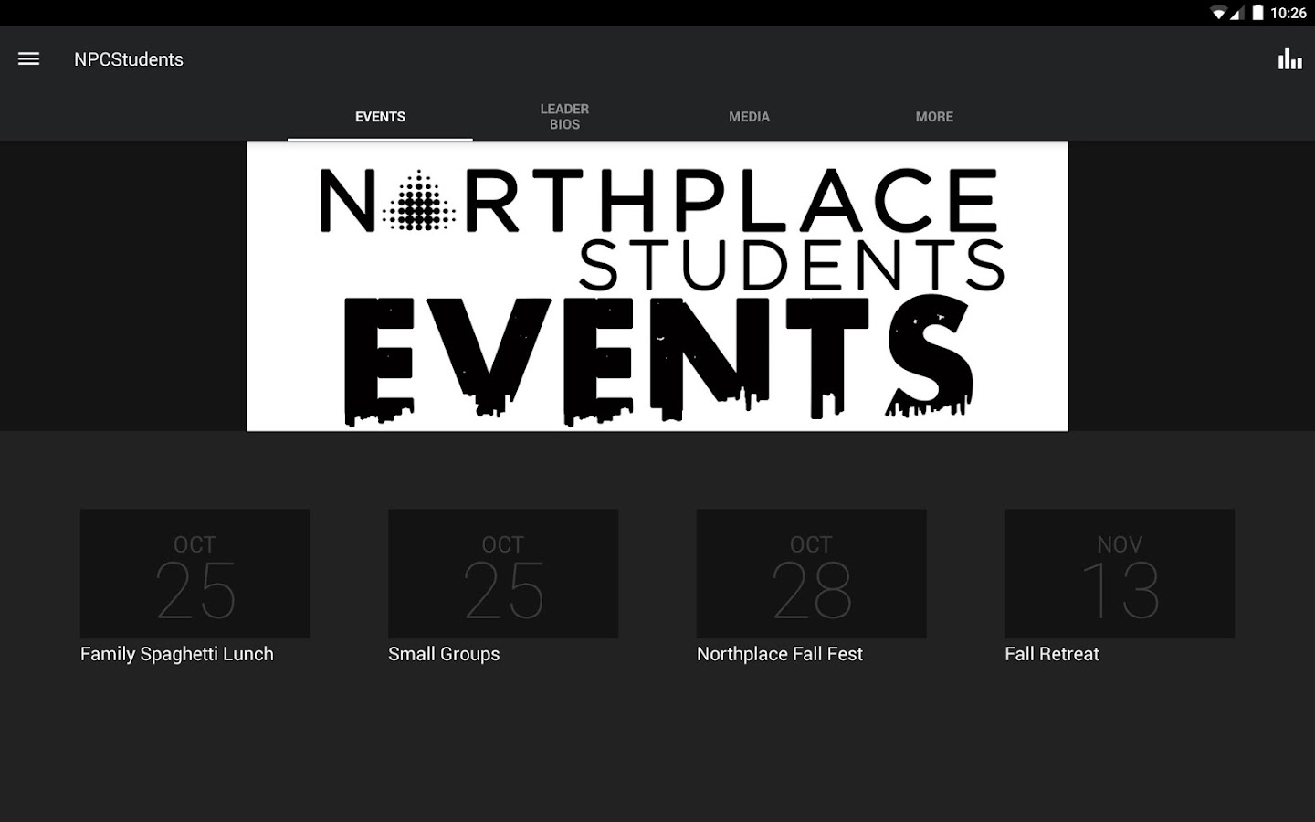 Northplace Students- screenshot