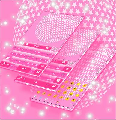 Pink Stars Keyboard Theme - screenshot