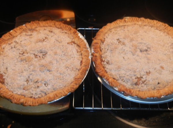 Bake at 350 for 45 minutes.Half way baked put a aluminum collar around the...
