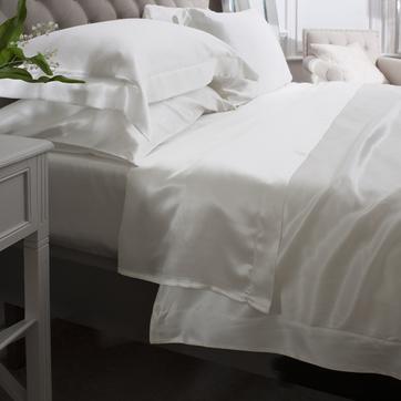 ivory silk flat sheet.