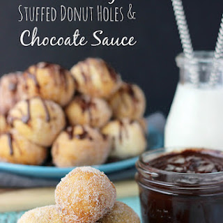 Ghirardelli Cookie Dough Stuffed Donut Holes and Chocolate Dipping Sauce