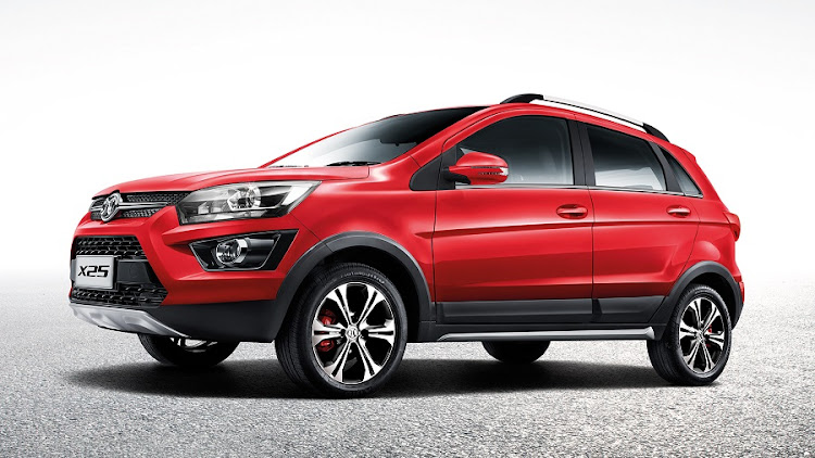 The BAIC X25 is the crossover version of the D20 launched earlier this year. Picture: BAIC SA