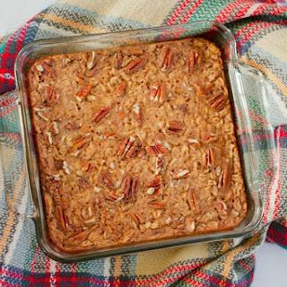 Maple Pecan Baked Oatmeal.