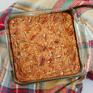 Maple Pecan Baked Oatmeal.