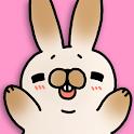 Tickling rabbit icon