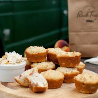 Peachy Cornbread Muffins with Salted Sorghum Peach Butter