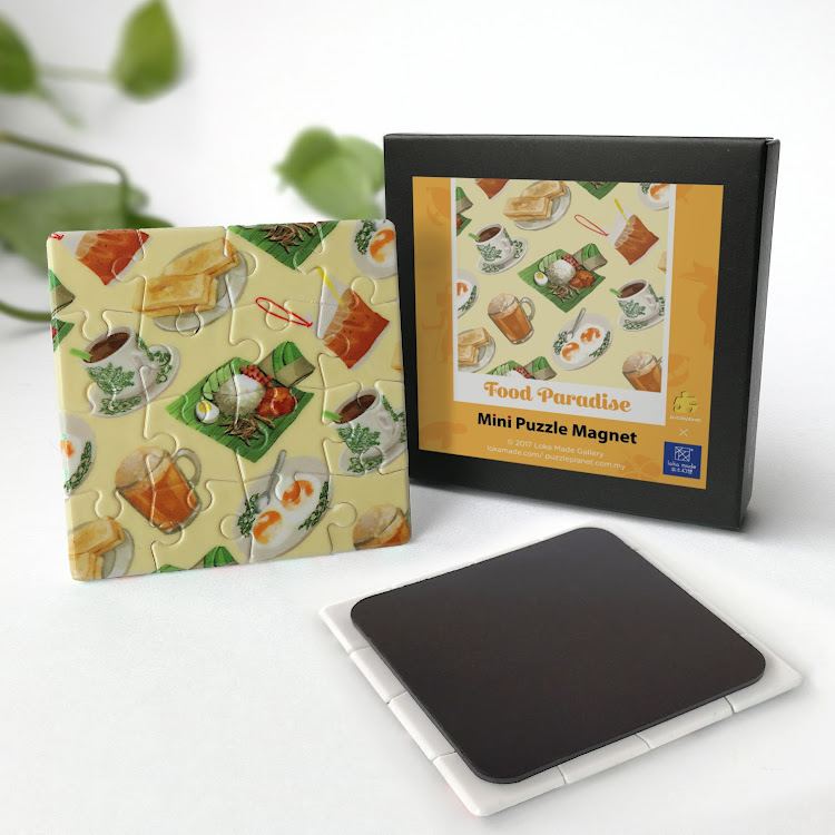 Mini Puzzle Magnet: Food Paradise by Loka Made