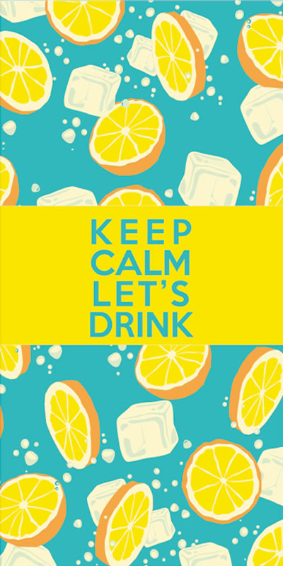 BeachTech Towel - Keep Calm and Let's Drink