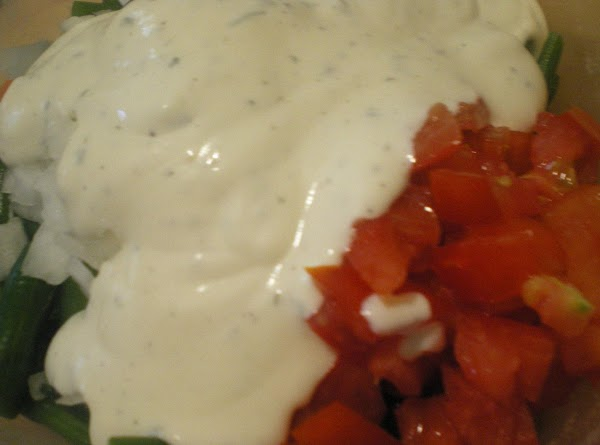 In a separate dish mix ingredients for ranch sauce until well combined.  Mixture...