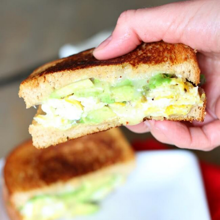 Avocado, Egg and Pepper Jack Grilled Cheese Sandwich on Whole Wheat ...
