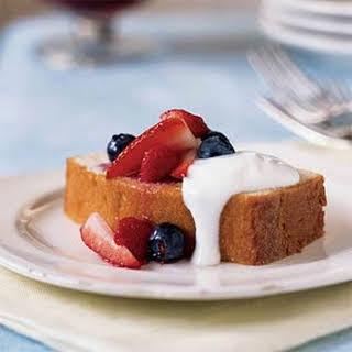 Lemon Pound Cake with Mixed Berries.