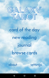 Galaxy Tarot Pro- screenshot thumbnail