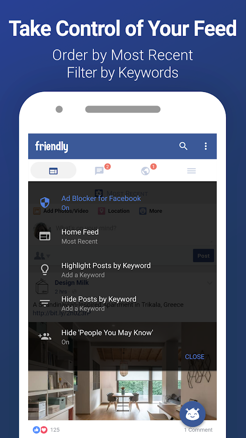 Friendly for Facebook- screenshot
