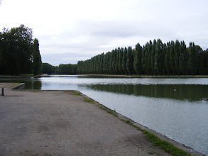 Photo: The flowing water moves first into an octagonal pool, and then here into the Grand Canal, shown near its center. The great year-end storm of 1999 felled many of the poplar trees along the banks, but the quality of the restoration was high, and which are new is hard to determine.