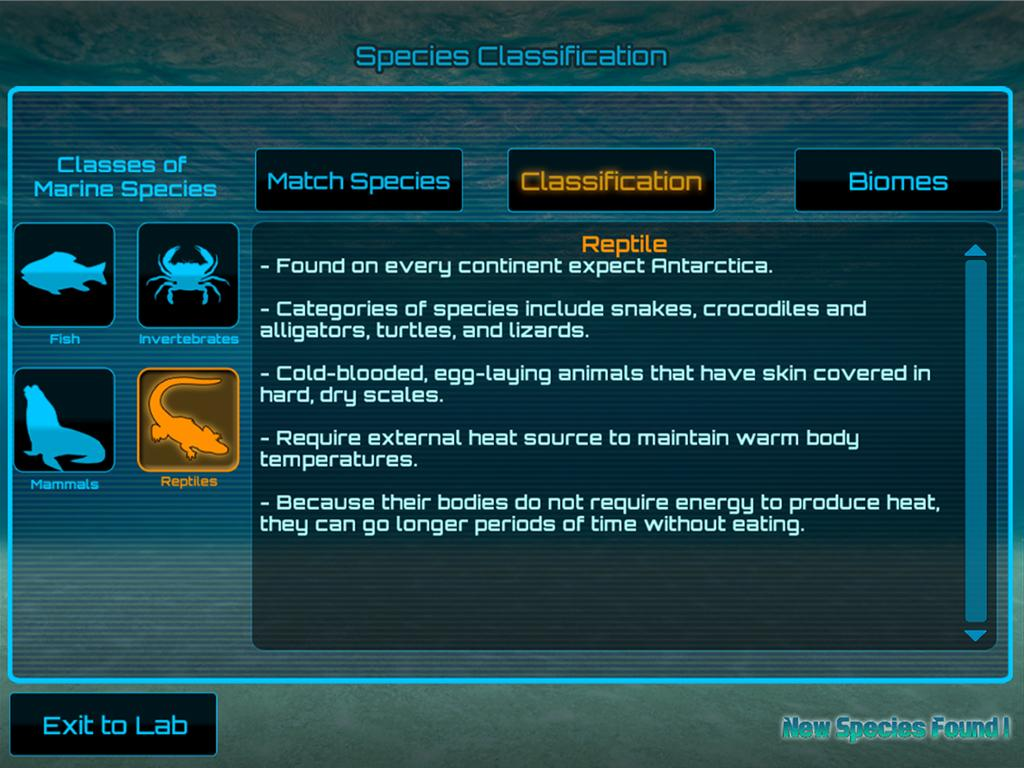 New Species Found- screenshot
