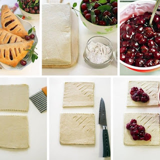 Puff Pastry With Cherries.