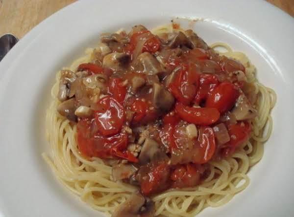 Chunky Tomato Mushroom Sauce