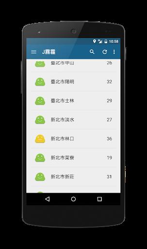 J霧霾 - 台灣空氣品質查詢