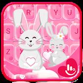 Rabbit Love Keyboard Theme Android APK Download Free By Fashion Cute Emoji