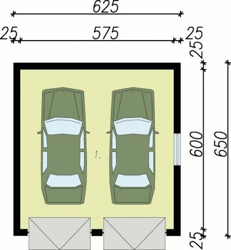 G27 - Rzut garażu