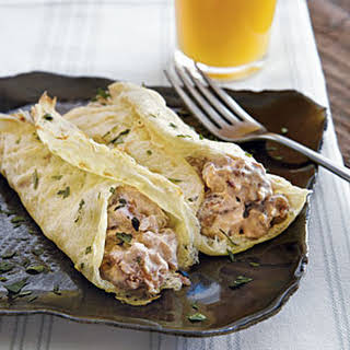 Egg Crepes with Sausage.