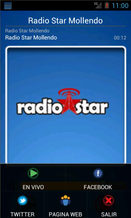 Radio Star Mollendo: captura de pantalla