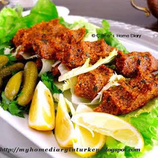 "Etsiz Çiğ Köfte / Turkish Meatless Raw kofte ""meatball""."