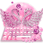 Clavier Cygne Amoureux du Diamant Rose icon