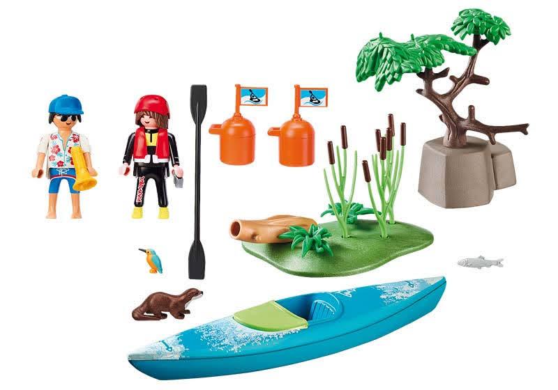 Contenido Real de Playmobil® 70035 Starter Pack Aventura en Canoa