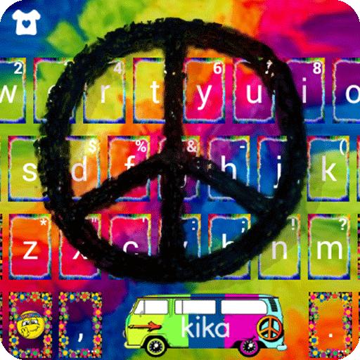 Hippie Peace Keyboard Theme Icon