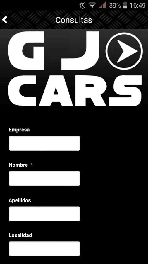 GJ Cars: captura de pantalla