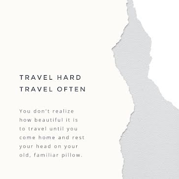 Travel Hard, Travel Often - Instagram Post Template