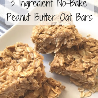 3-Ingredient No-Bake Peanut Butter Oat Bars