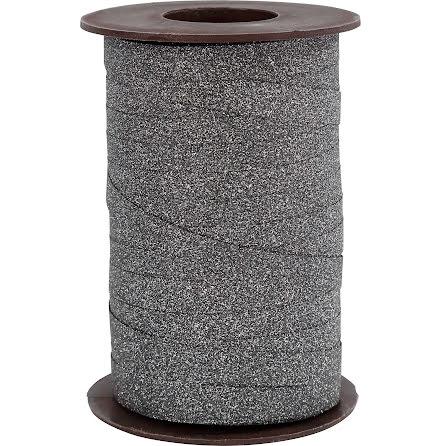 Presentband Glitter 100m svart