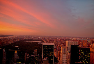 """Photo: """"The sky and the impossible...""""  When the sun stretches its fingers across the surface of the sky, it holds the city in the palm of its hand.  And the sky and the impossible melt away if only for a moment.    New York Photography: Sunset over the New York City skyline and Central Park as viewed from the top of Rockefeller Center.    You can view this post along with information about where to purchase prints of this image if you wish at my site here:  http://nythroughthelens.com/post/29126198006/sunset-over-central-park-and-the-new-york-city  -  Tags: #photography  #newyorkcity  #nyc  #newyorkcityphotography  #city  #urban  #centralpark  #newyorkcityskyline  #skyline  #sunset  #landscape  #nycsunset  #newyorkcitysunset  #skyscrapers"""