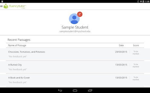 Fluency Tutor™ (Student App)- screenshot thumbnail