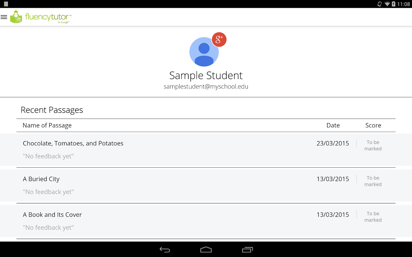 Fluency Tutor™ (Student App)- screenshot