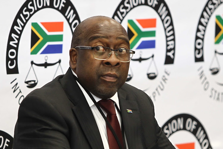Nhlanhla Nene, Minister of Finance South Africa. Is seen at the commission of inquiry into state capture that is chaired by the deputy chief justice Raymond Zondo.