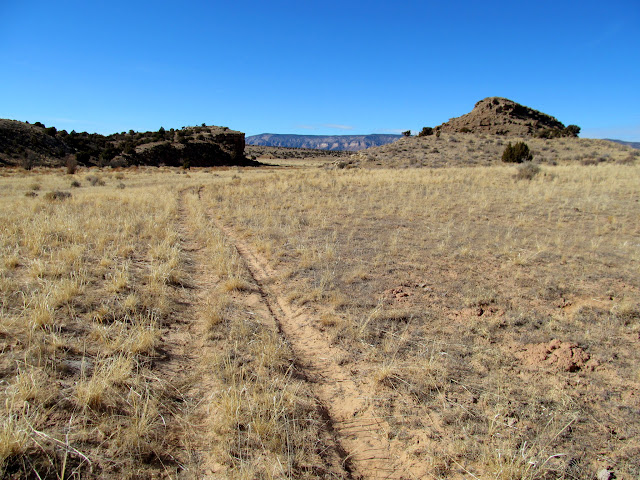 Following a faint ATV track