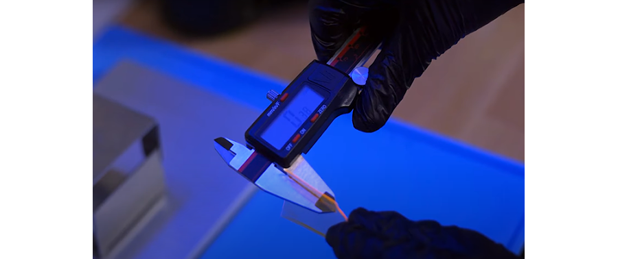 The thickness does not need to hit an exact number. As long as it measures within 0.1mm to 0.5mm, your resin is most likely compatible with your printer. If it's less than 0.1mm thick, you can make a few more adjustments to double-check compatibility.