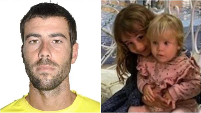 Imágenes del hombre y de sus hijas difundidas por Sos Desaparecidos.
