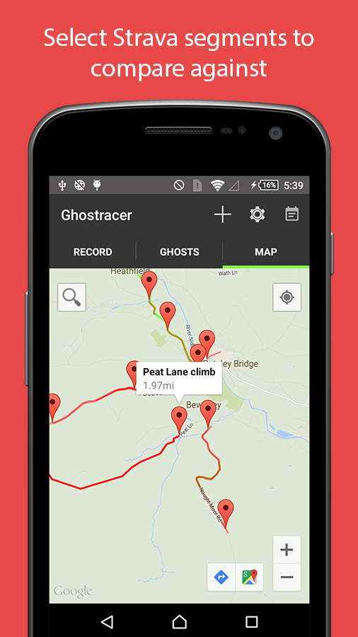 Ghostracer - GPS Run & Cycle- screenshot