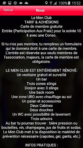 android LE MEN CLUB Screenshot 1