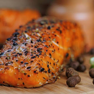 Grilled Salmon with Spicy Rub.