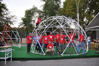 Photo: The SketchUp team at World Maker Faire '14.